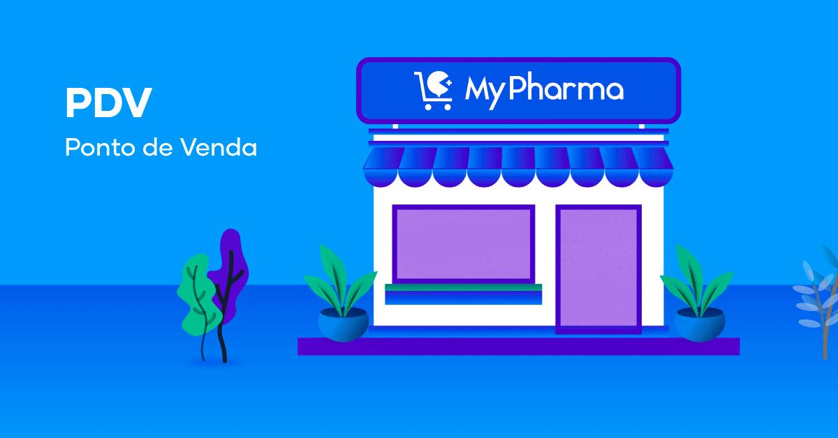 PDV e fachada de farmácia