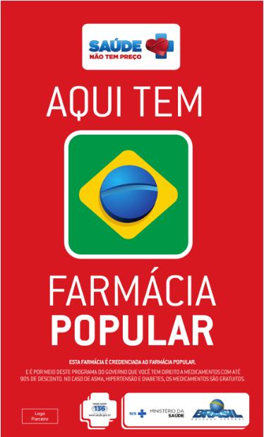 Banner propaganda farmácia popular