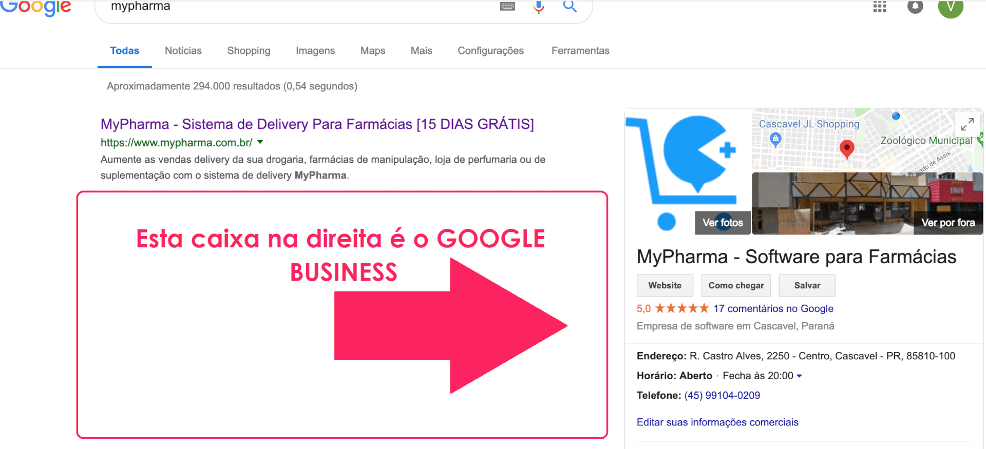 Google Business MyPharma