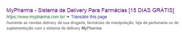 Seo para farmácias - Título da página