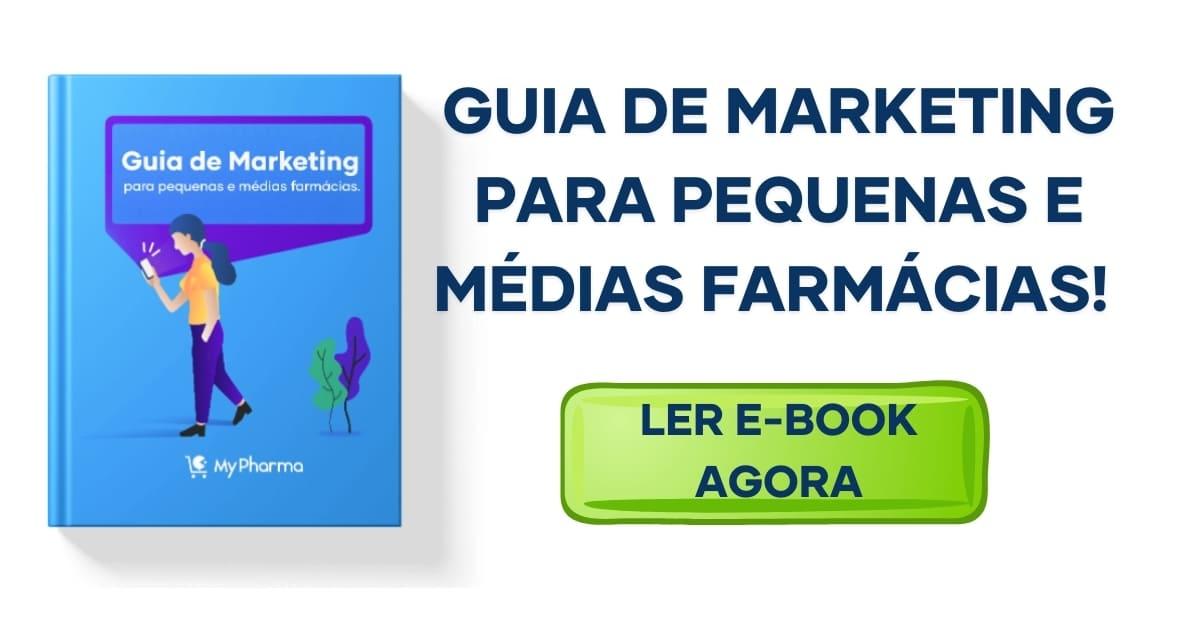 imagem com link para baixar o guia de marketing para pequenas e médias farmácias