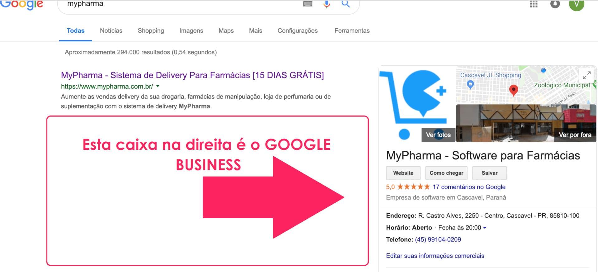 Configurações do Google Business  ajudam no SEO local para farmácia